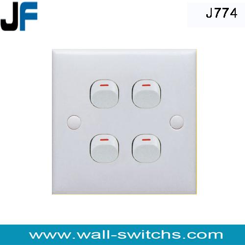 J774 four gang one way switch Singapore light switch   wenzhou ...