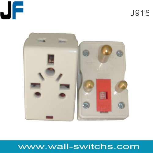 J916 3 Round Pin 5amp Plug Adapter Multiple Adaptor Plug